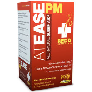 AtEasePM All Natural Sleep Aid, Promotes restful sleep, calms nervous tension at bedtime, 30 Capsules
